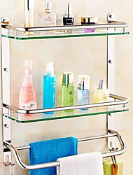 Недорогие -Полка для ванной Креатив Современный стекло / Нержавеющая сталь 1шт - Ванная комната На стену