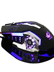 Недорогие -эргономичный про проводной светодиодный свет 4000 точек на дюйм оптическая USB игровая мышь игровая мышь
