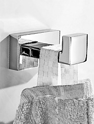 cheap -Robe Hook New Design Metal Material Bathroom Hook Wall Mounted Chrome Silvery 1pc
