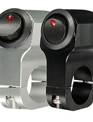 Недорогие -12v 10a мотоцикл рукоятка выключатель света включения / выключения алюминиевого сплава с индикатором
