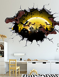 cheap -Happy Halloween Cartoon Animal Wall Stickers - Words &amp Quotes Wall Stickers Characters Study Room / Office / Dining Room / Kitchen