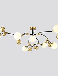 abordables -ZHISHU 7 lumières Spoutnik / Globe Lustre Lumière d'ambiance Plaqué Finitions Peintes Métal Verre Design nouveau, Contrôle WIFI, Tricolore 110-120V / 220-240V Blanc Crème / Blanc / Wi-Fi intelligent