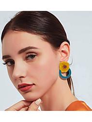 cheap -Women's Red Synthetic Diamond Stud Earrings Drop Earrings Geometrical Flower Shape Hope Stylish Artistic Romantic Korean Sweet Resin Earrings Jewelry Black / Dark Green / Beige / White For Engagement