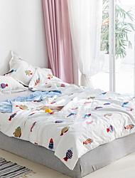 abordables -Confortable - 1 Couette Printemps & Automne Coton Imprimé