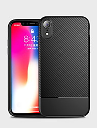 cheap -Case For Apple iPhone XS / iPhone XR / iPhone XS Max Shockproof Back Cover Solid Colored Soft Carbon Fiber