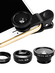 cheap -Mobile Phone Lens Fish-Eye Lens Acrylic / ABS+PC 5 mm 180 ° Lens with Case / Adorable