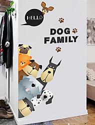 Недорогие -Животные Наклейки Наклейки для животных Наклейки на холодильник, PVC Украшение дома Наклейка на стену Холодильник / Окно Украшение 1шт / Съемная