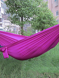 cheap -Camping Hammock Outdoor Fast Dry Decoration Adjustable Flexible Hemp Rope Pure Cotton with Carabiners and Tree Straps for 1 person Green Violet Royal Blue 230*90 cm
