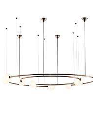 cheap -ZHISHU 8-Light 85 cm Pendant Light Metal Glass Geometrical Industrial Novelty Painted Finishes Artistic Chic & Modern 110-120V 220-240V