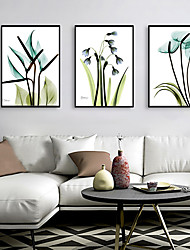 cheap -Framed Art Print Framed Set - Abstract Floral / Botanical PS Illustration Wall Art