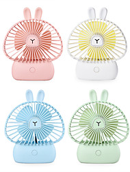 cheap -1PC Cartoon Small Fan Usb Charging With Ambient Lamp Small Fan Portable Outdoor Large Wind Hand-Held Fan