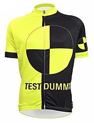 abordables -21Grams Homme Manches Courtes Maillot Velo Cyclisme Noir / jaune. Nouveauté Marrant Cyclisme Hauts / Top VTT Vélo tout terrain Vélo Route Résistant aux UV Respirable Evacuation de l'humidité Des