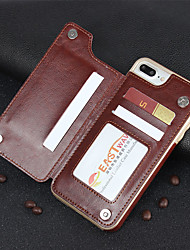 cheap -Multifunction Magnetic Leather Wallet Case Card Slot Shockproof Full Protection Cover for iPhone X 7/8 7/8 Plus