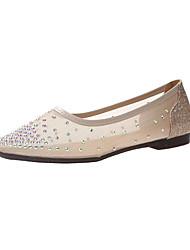 cheap -Women's Flats Flat Heel Rhinestone Synthetics Spring & Summer Black / Gold
