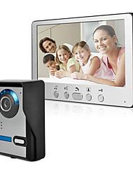 Недорогие -ультратонкий 7-дюймовый проводной видео дверной звонок HD вилла видео домофон наружный блок угол регулируется 815fa11