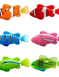 Недорогие -мигать прозрачный электронный рыба животное игрушка робот рыбу - розовый + фиолетовый (2 х L1154)