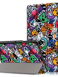 cheap -Case For Samsung Galaxy Samsung Tab S5e T720 10.5 / Samsung Tab A 10.1(2019)T510 Shockproof / Flip / Origami Full Body Cases Skull Hard PU Leather