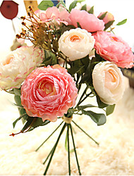 cheap -Artificial Flowers 7 Branch Classic Simple Style Wedding Flowers Roses Eternal Flower Tabletop Flower