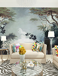 cheap -Art Deco / Pattern / Landscape Home Decoration Classic / Modern Wall Covering, Canvas Material Adhesive required Wallpaper / Mural / Wall Cloth, Room Wallcovering