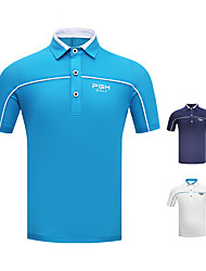 cheap -Men's Polos Shirt Short Sleeve Golf Athleisure Outdoor Spring Summer / Cotton / Stretchy / Breathable / Solid Color