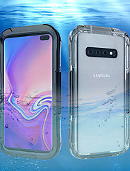cheap -Case For Samsung Galaxy Galaxy S10 / Galaxy S10 Plus / Galaxy S10 E Water Resistant Back Cover Solid Colored Hard Plastic