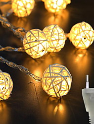 cheap -3m String Lights 20 LEDs 1 set Warm White Indoor Cute Creative 220 V