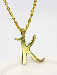 cheap -Men's Women's Silver Gold Pendant Necklace Charm Necklace X Alphabet Shape Basic Stainless Steel Gold Silver 50 cm Necklace Jewelry 1pc For Daily