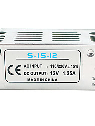cheap -1pc Light Strip Light String Video Monitoring Switching Power Supply Input AC85-265V Output 12V 15W