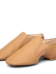 cheap -Women's Jazz Shoes Flat Flat Heel Sheepskin Black / Brown / Performance / Practice