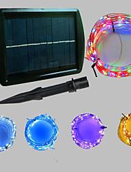 cheap -20m String Lights 200 LEDs Dip Led Warm White / Cold White / Blue Solar / Party / Decorative 2 V 1pc