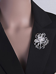 cheap -Women's Brooches Retro Flower Stylish Classic Brooch Jewelry White Silver For Party Festival