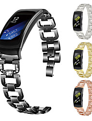 cheap -Watch Band for Gear Fit2 Pro Samsung Galaxy Butterfly Buckle Stainless Steel Wrist Strap