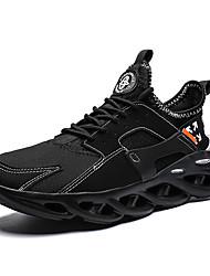 cheap -Men's Novelty Shoes Mesh / Tissage Volant Spring & Summer / Fall & Winter Sporty / Classic Athletic Shoes Running Shoes Breathable Black / White / Red