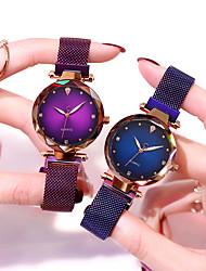 Недорогие -мода звездное небо магнитные женские часы случайные имитация бриллианта мода наручные часы 1 шт. аналог