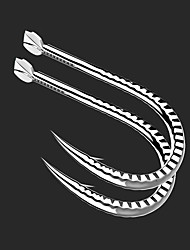 cheap -20 pcs Worm Hooks Fishing Hooks Thin Hang-Nail / Curved Point Freshwater Fishing / Carp Fishing / General Fishing Alloy