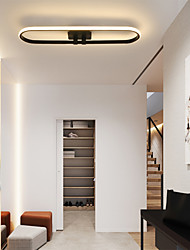 cheap -1-Light 17 cm LED Flush Mount Lights Metal Linear Painted Finishes Contemporary / LED 110-120V / 220-240V