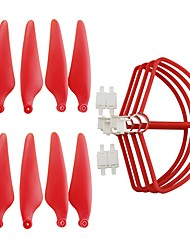 cheap -Hubsan Zino H117S 1 set Propeller Guards / Propellers ABS+PC Low Noise / Removable / Easy to Install