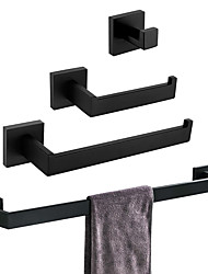 cheap -Bathroom Accessory Set Premium Design / Creative Contemporary / Traditional Stainless steel / Stainless Steel / Iron / Metal 4pcs - Bathroom Wall Mounted