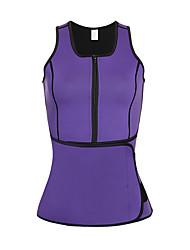 cheap -Men's / Women's Zipper Overbust Corset - Solid Colored / Fashion, Lace / Sporty / Stylish Purple Fuchsia Lavender XXXXL XXXXXL XXXXXXL