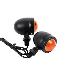 Недорогие -для Harley 2 шт. пуля металла мотоцикла указатели поворота сигнальная лампа