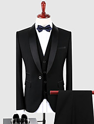 cheap -Tuxedos Slim Fit Shawl Collar Single Breasted One-button Polyester / Cotton Blend Solid Colored / Classic