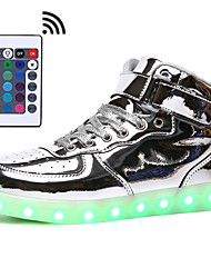 cheap -Men's / Unisex Light Up Shoes Synthetics Fall & Winter Sneakers Black / White / Gold