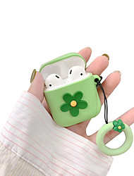 cheap -Protective Cover AirPods Flower Silicone Case Apple AirPods Headphones Headset