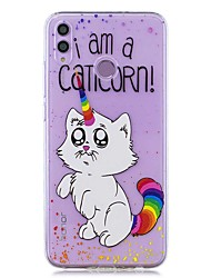 cheap -Case For Huawei Honor 8X / Huawei P Smart (2019) Pattern / Transparent Back Cover Rainbow Cat Soft TPU for Mate20 Lite / Mate10 Lite / Y6 (2018) / P20 Lite / Nova 3i / P Smart / P20 Pro
