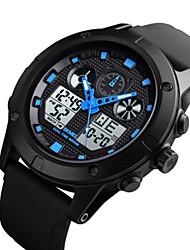 cheap -SKMEI Men's Digital Watch Digital Outdoor Water Resistant / Waterproof Analog - Digital Black Blue / Two Years / Rubber / Calendar / date / day / Chronograph / Noctilucent