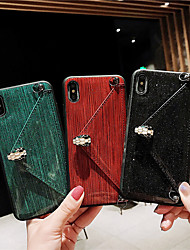 cheap -Case For Apple iPhone XS / iPhone XR / iPhone XS Max Card Holder / with Stand / Flip Back Cover Solid Colored Hard PU Leather