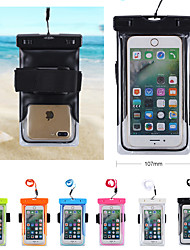 cheap -Case For Universal Universal Water Resistant / Waterproof Waterproof Pouch Solid Colored Soft PVC for Universal Velcro outdoor swimming neck hanging cell phone bag unisex 6 inch