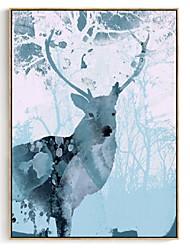 cheap -Framed Art Print - Animals Wood Oil Painting Wall Art