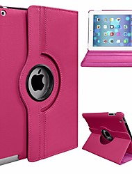 cheap -Case For Apple iPad Air 360° Rotation / Dustproof / with Stand Full Body Cases Solid Colored Hard PU Leather / PC for iPad Air