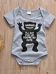 cheap -Baby Boys' Active / Basic Print Print Short Sleeves Bodysuit Gray